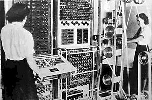 Colossus, the world's first electronic programmable computer.